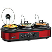 Bella™ 3x1.5-qt. Triple Slow Cooker with Lid Rests