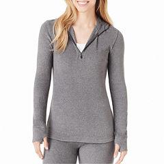 Cuddl Duds® Fleecewear Long-Sleeve Half-Zip Hoodie