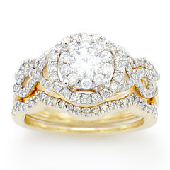 tw white diamond 14k gold cocktail ring - Jcpenney Wedding Ring Sets