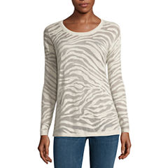 a.n.a® Animal Burnout Sweater - Tall