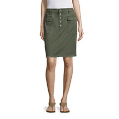 a.n.a® Button-Fly Utility Skirt
