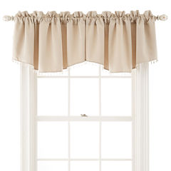 Liz Claiborne® Kathryn Rod-Pocket Beaded Ascot Valance