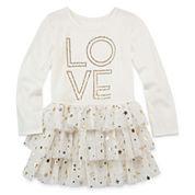 Total Girl® Long-Sleeve Layered Dress - Preschool Girls 4-6x