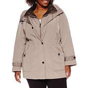 Miss Gallery® Anorak Stadium Coat - Plus