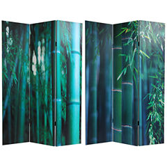 Oriental Furniture 6' Bamboo Tree Canvas Room Divider