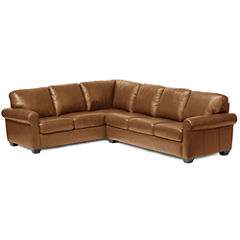 Leather Possibilities 2-pc. Left- Arm Corner Sofa Sectional