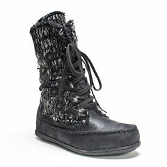 Muk Luks Womens Lace Up Water Resistant Winter Boots