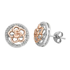 Enchanted By Disney 1/4 CT. T.W. Round White Diamond Sterling Silver Stud Earrings