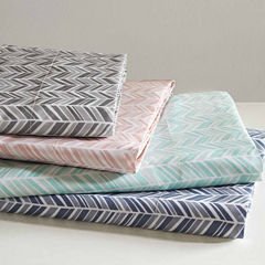 Chevron Microfiber Easy Care Sheet Set
