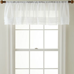 Royal Velvet® Crushed Voile Rod-Pocket Tailored Pleated Valance