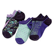 Nike® 3-pk. Graphic No-Show Socks - Girls