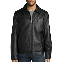 Dockers® Faux Leather Laydown Collar