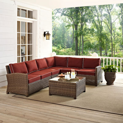 Crosley Bradenton Wicker 5 Pc. Patio Lounge Set
