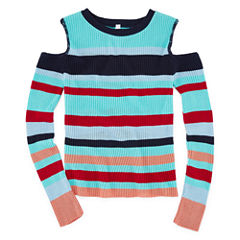 Say What Long Sleeve Henley Shirt - Big Kid Girls