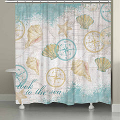 Laural Home Look To The Sea Shower Curtain