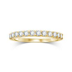 1/2 CT. T.W. Diamond 14K Yellow Gold Wedding Band