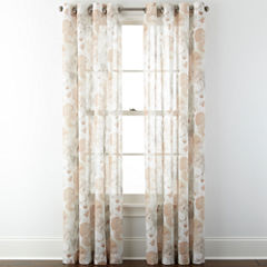 JCPenney Home™ Corina Grommet-Top Sheer Panel