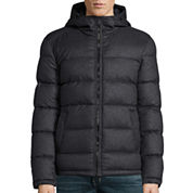 Claiborne® Wool Look Puffer With Hood