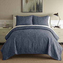 Pacific Coast Textiles Embroidered 3-pc. Quilt Set