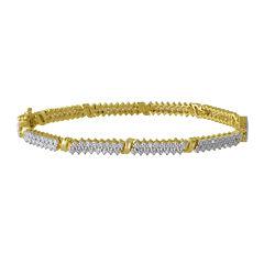 1/10 CT. T.W. Diamond Double-Row Tennis Bracelet