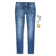 Imperial Star Denim Skinny Jeans With DIY Patches - Girls 7-16