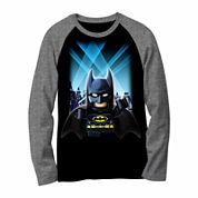 DC Comics® Batman Lego Long-Sleeve Raglan Tee - Preschool Boys 4-7