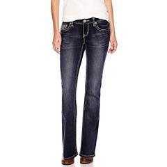 ZCO Lace-Pocket Bootcut Jeans - Petite