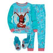 Disney Collection 2-pc. Moana Cotton Pajama Set or Slippers