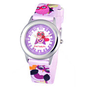 Red Balloon Love Owl Time Teacher Kids Stainless Steel Watch