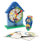 LEGO® Kids Time Teacher Watch with Blue Construction Clock & Activity Cards