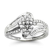 1/3 CT. T.W. Diamond 10K White Gold Cluster Ring