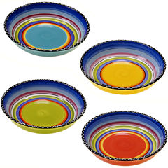 Tequila Sunrise Set of 4 Soup Bowls