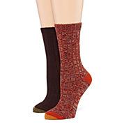 Goldtoe® 2-pk. Petra Boot Crew Socks