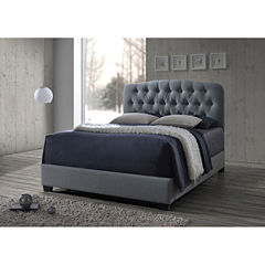 Baxton Studio Romeo Contemporary Button-Tufted Upholstered Bed