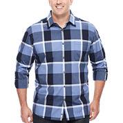 Claiborne® Modern Long-Sleeve Woven Cotton Shirt - Big & Tall