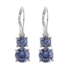 Gloria Vanderbilt Brown Drop Earrings
