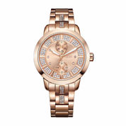JBW Women's Lumen 0.06 ctw Diamond 18K Rose Gold-Plated Stainless Steel Watch J6341E
