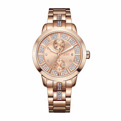 JBW Women's Lumen 0.06 ctw Diamond 18K Rose Gold-Plated Stainless Steel Watch J6341E
