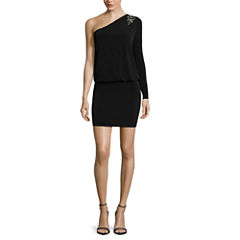 nicole by Nicole Miller® One-Shoulder Blouson Dress