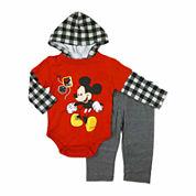 Disney Boys Mickey Mouse Pant Set NB-9M