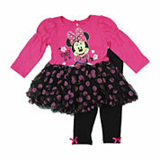 Disney Girls Minnie Mouse Pant Set-Baby