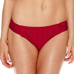 a.n.a® High-Neck Red Crochet Halter Swim Top