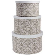Household Essentials® 3-pc. Nesting Hat Box Set