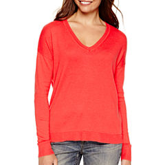 a.n.a® Long-Sleeve V-Neck High-Low Sweater