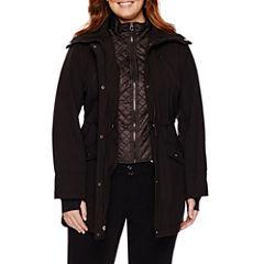 Liz Claiborne® Snap-Collar Softshell Jacket-Plus