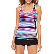 Zeroxposur® Echo Sport Tankini Swim Top or Boyshort Swim Bottoms