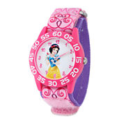 Disney Snow White Kids Time Teacher Print Nylon Strap Watch