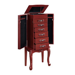 Red Jewelry Armoire