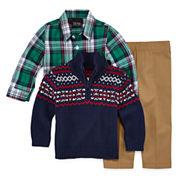 TFW Boys Long Sleeve Pant Set Regular-Baby 0-24 Mos