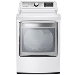 LG 7.3 Cu.Ft. Ultra-Large Electric TurboSteam™ Dryer with SteamSanitary™